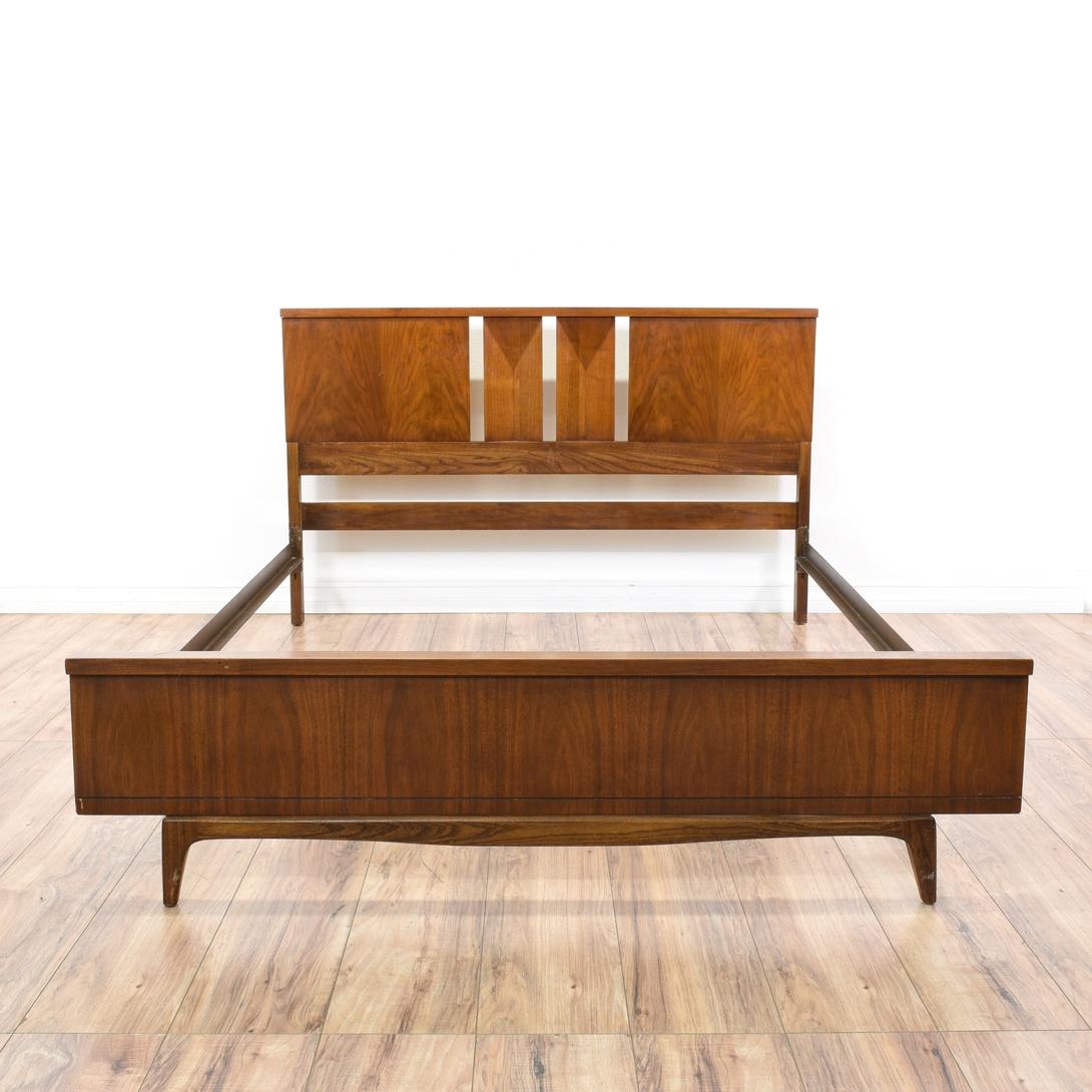 Walnut Bedframe Loveseat Vintage Furniture San Go Los Angeles