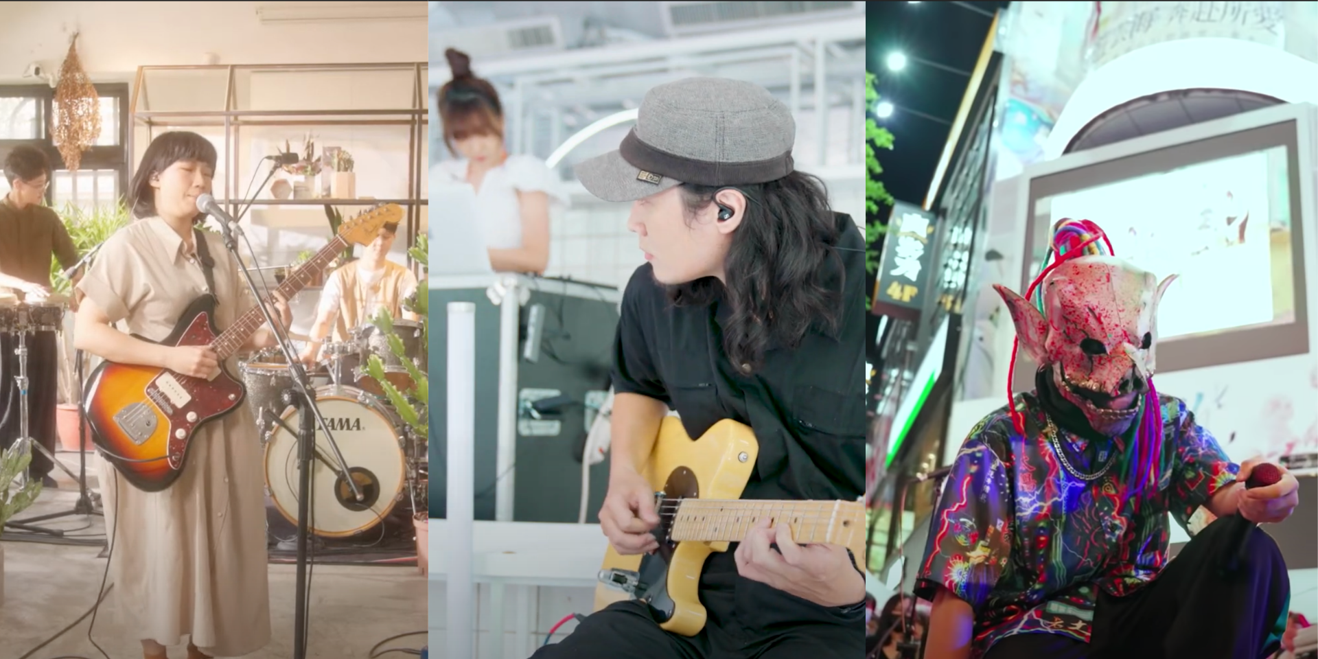 Go on a Taipei music trip with Huan Huan, Go Go Machine Orchestra, and Flesh Juicer — watch