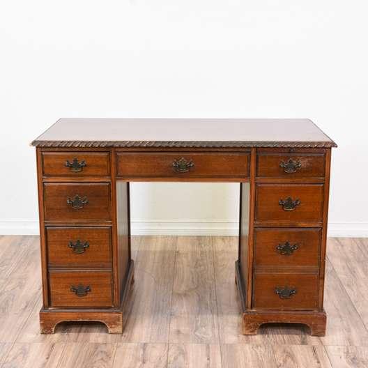 Vintage Wooden Kneehole Desk
