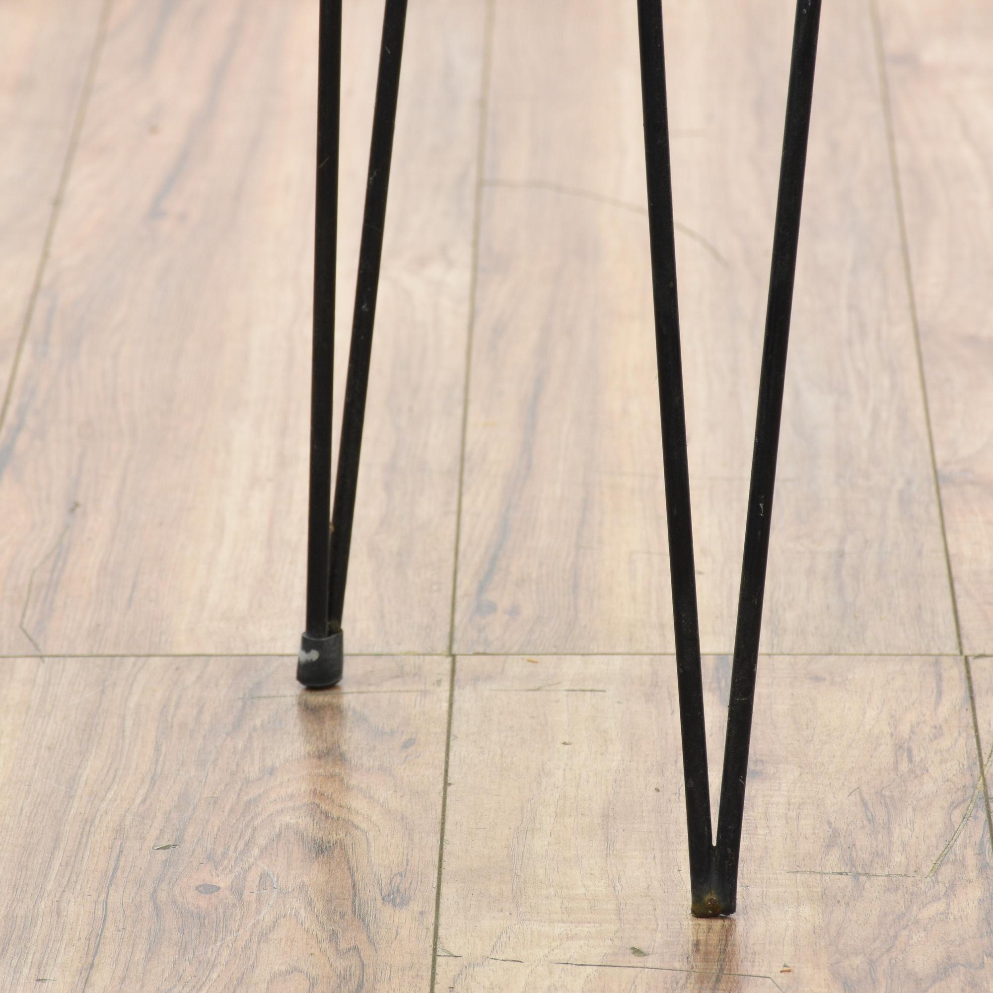 Mid Century Modern Metal Hairpin Leg Plant Stand