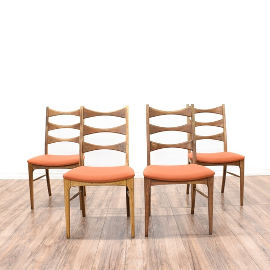 Dining Room Furniture San Diego: Set Of 4 Bow Tie Ladder Back Dining Chairs