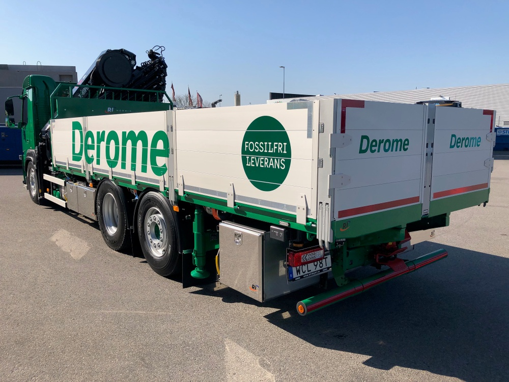 Fossilfri leverans Derome
