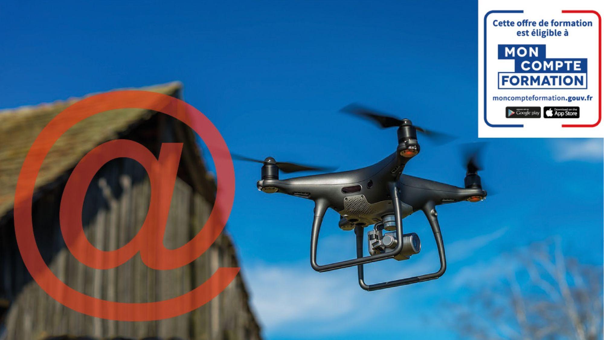 Représentation de la formation : Certification Télépilotage Drone Professionnel (Théorique : E-Learning)