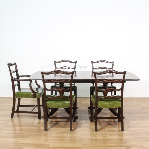Dining Room Chairs San Diego: Duncan Phyfe Dining Set W/ 5 Green Chairs