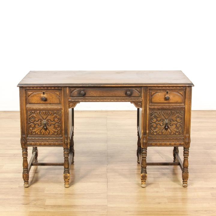 Quot Morris Furniture Mfg Co Quot Rustic Carved Desk Loveseat