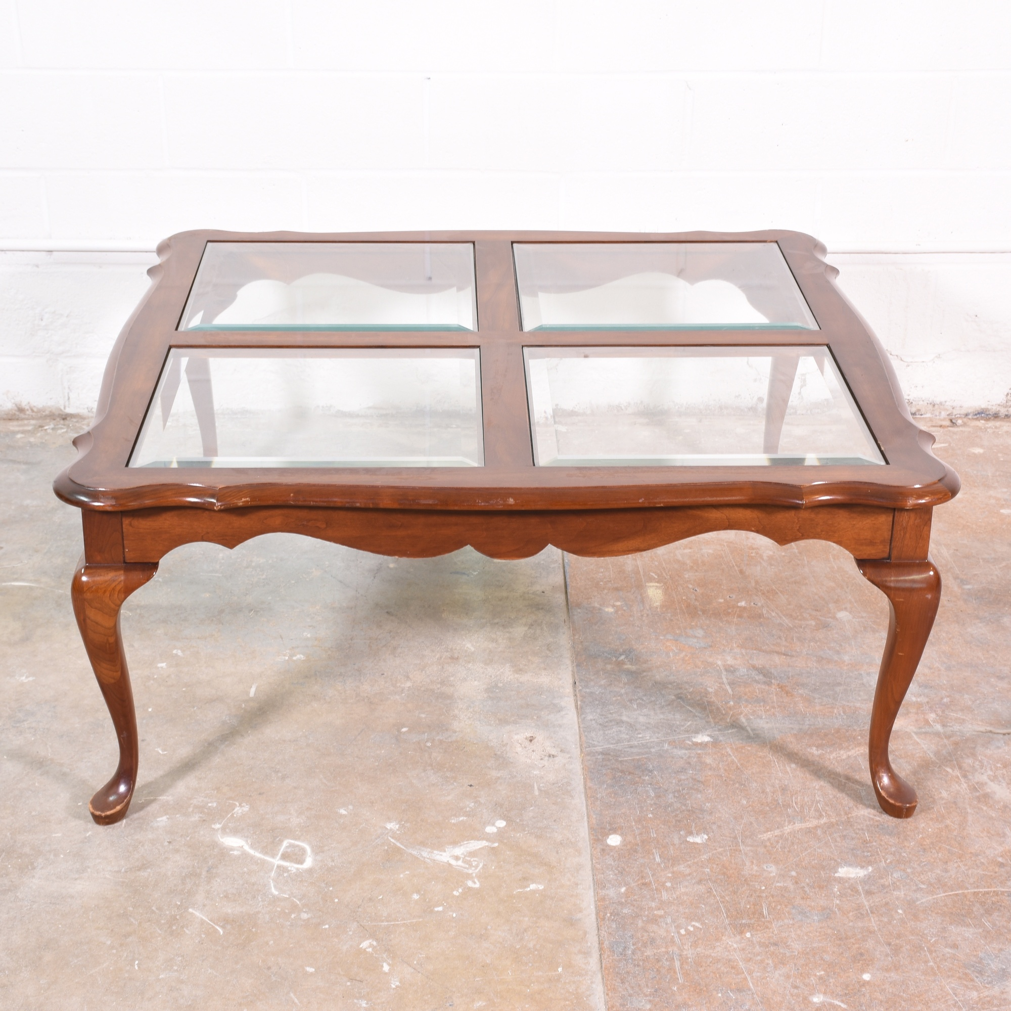Victorian style coffee table w glass inlays loveseat vintage victorian style coffee table w glass inlays loveseat vintage furniture san diego geotapseo Gallery