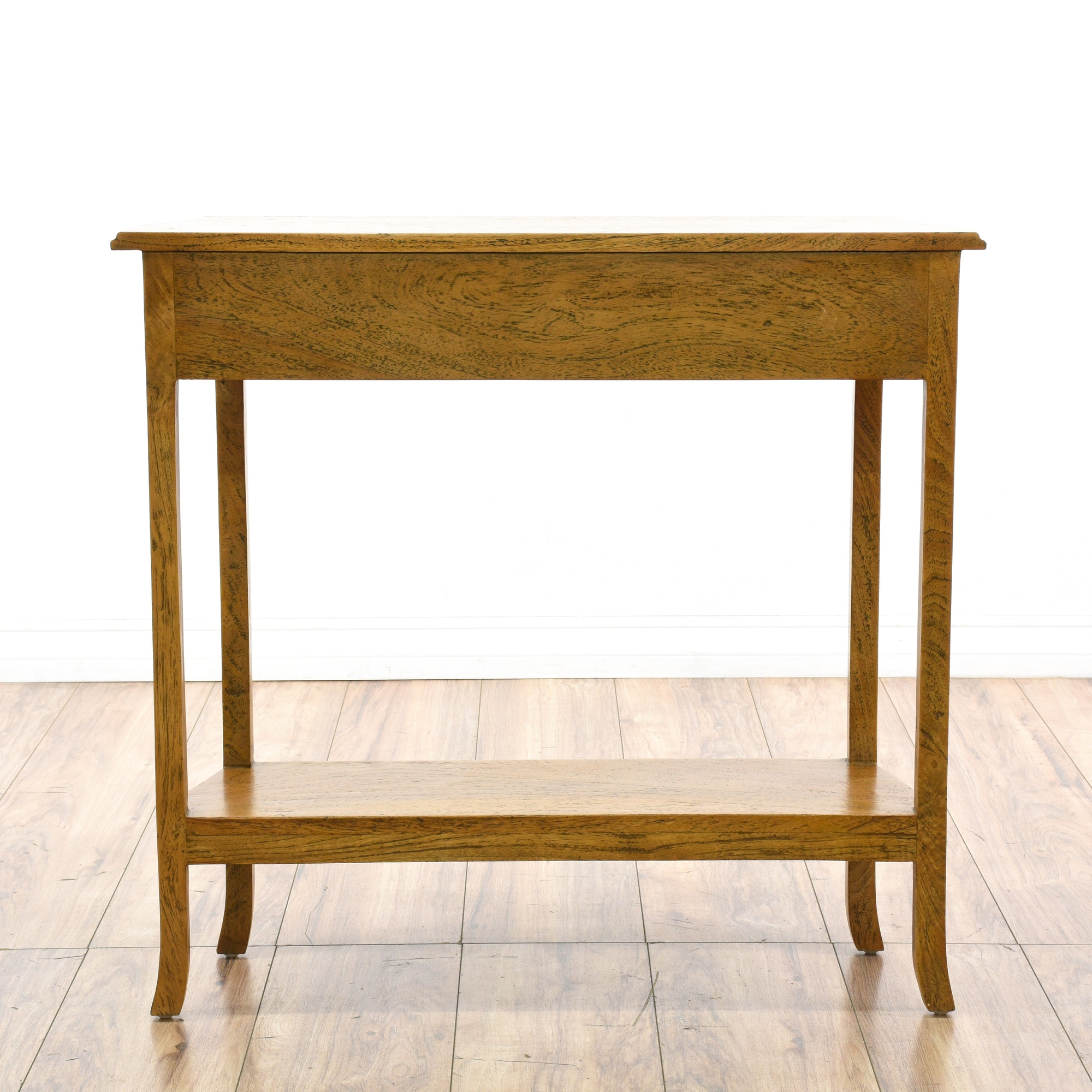 Small console table w drawer bottom shelf loveseat for Small console table with shelf