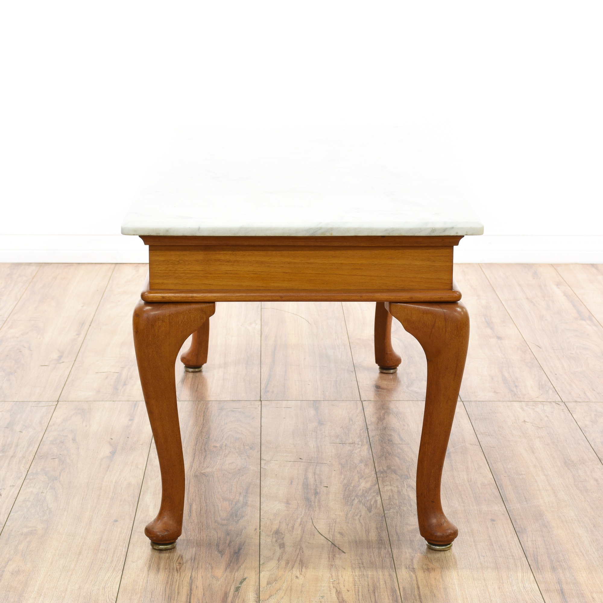 Marble Top Cabriole Leg Coffee Table