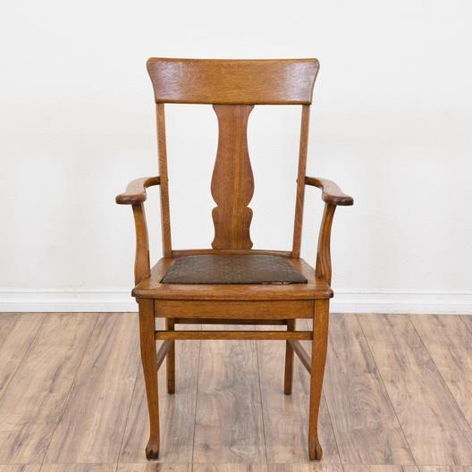 Pleasant Set Of 5 Tiger Oak Vintage Dining Chairs Loveseat Vintage Short Links Chair Design For Home Short Linksinfo