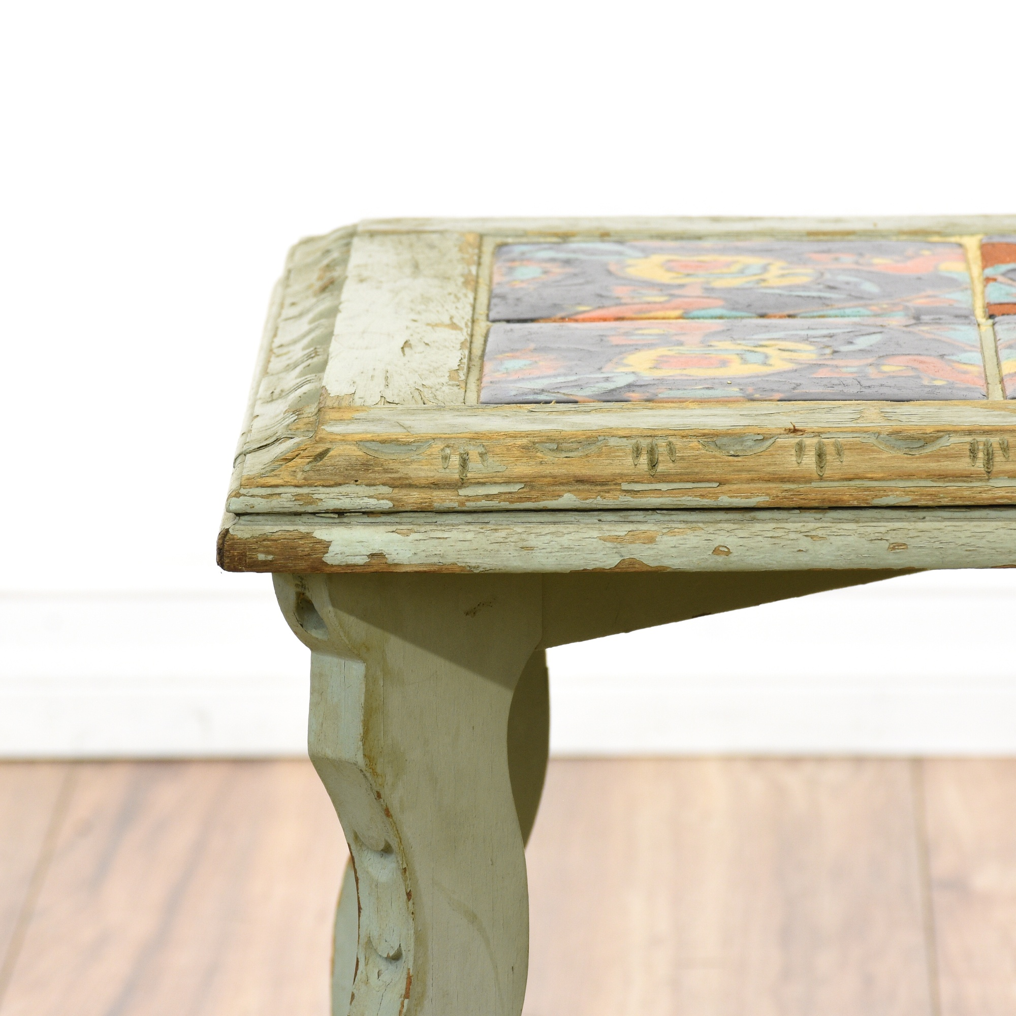 Spanish Revival Catalina Tile Top Table Loveseat Vintage