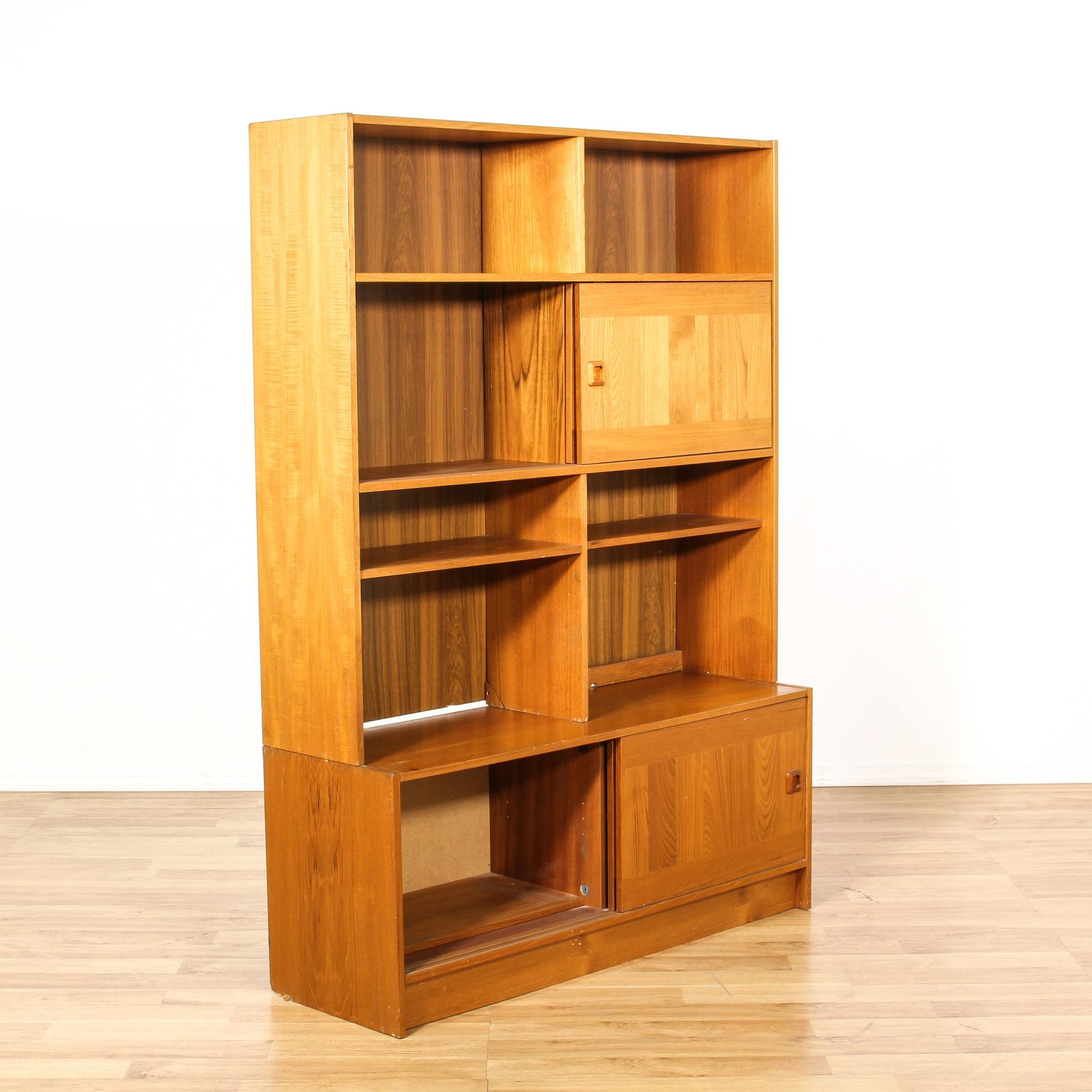 Domino mobler danish modern bookcase wall unit loveseat vintage furniture san diego los - Modern bookshelf wall unit ...