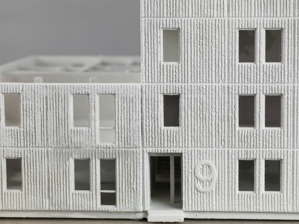 José Hernández och Helena Westerlind. Skarne System – Sverige 1950-tal, 2017. Modell, 3d print i gips. Cred: Björn Strömfeldt