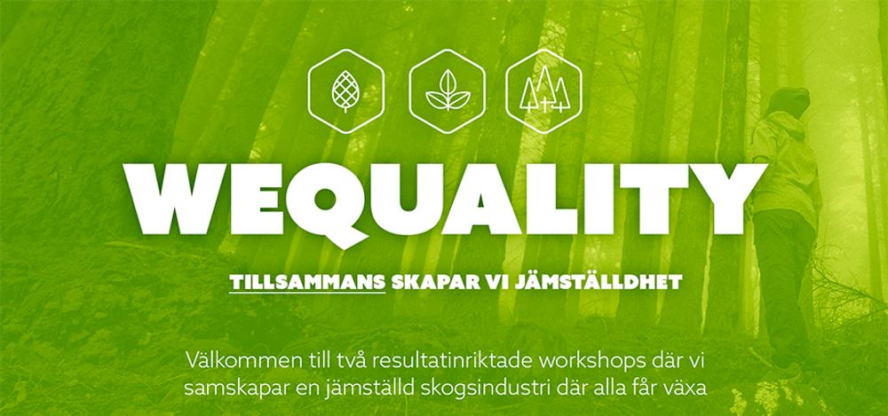 Konceptbild för Wequality workshopserie. Copyright: Paper Province