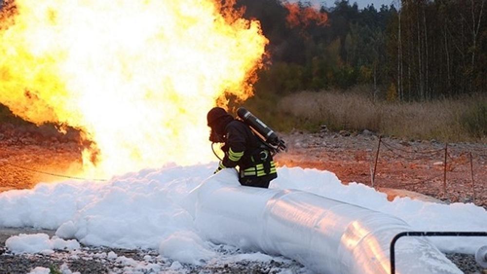 Brandsläckning med skum