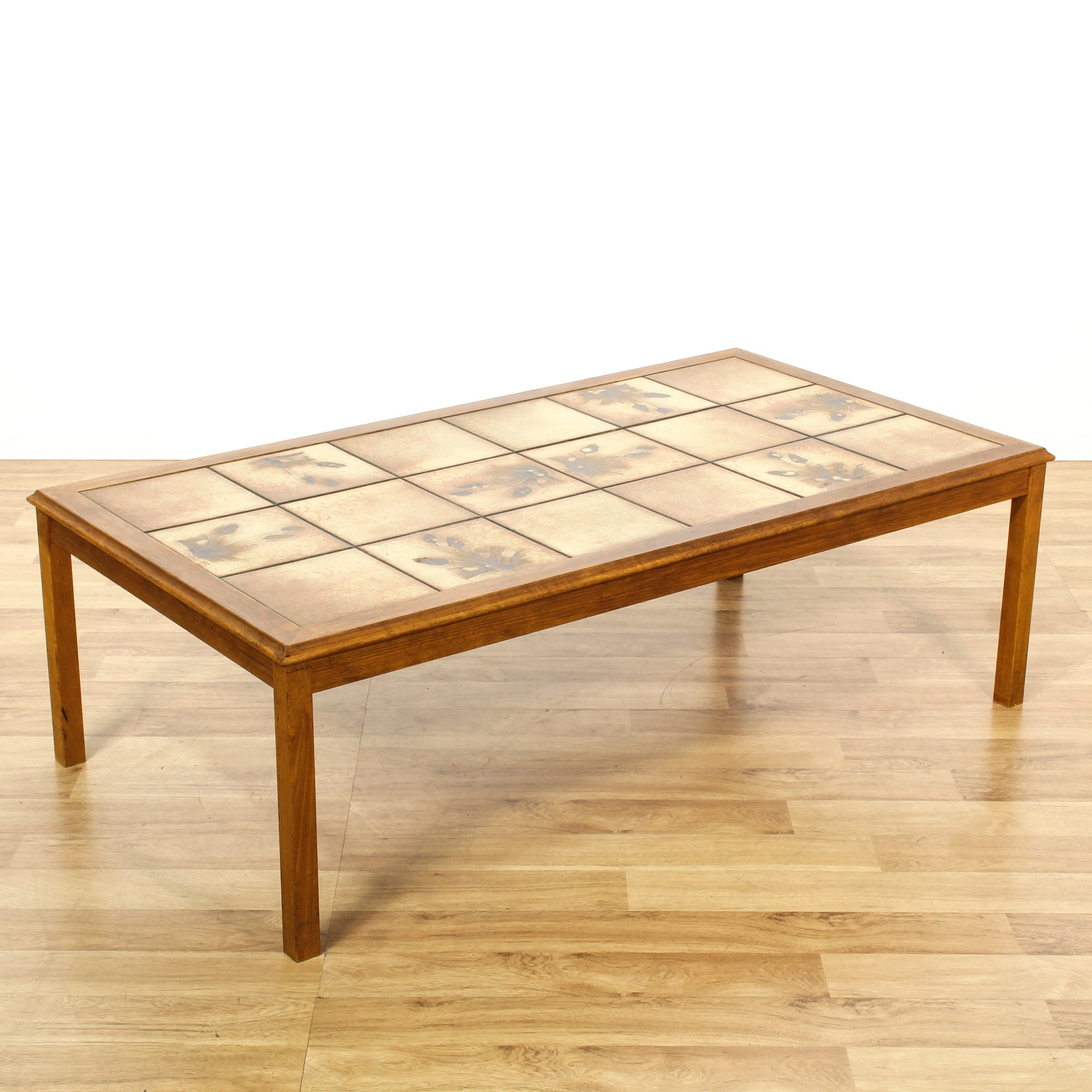 Tile Coffee Table Set: Mid Century Tile Top Coffee Table