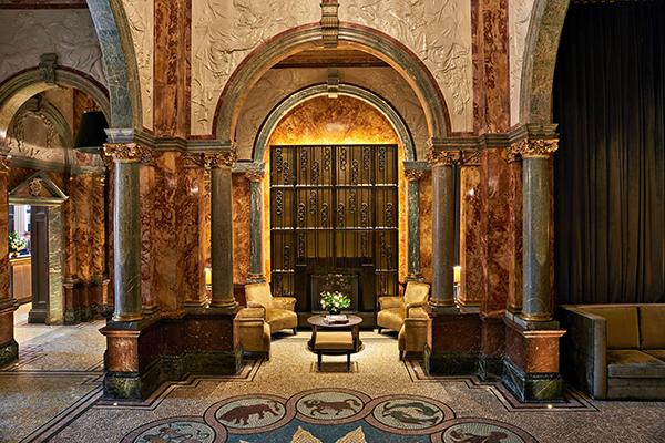 The lobby at the Kimpton Fitzroy London