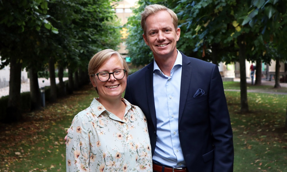 Benify's new CPO Kjersti Thornéus with CEO Joakim Alm