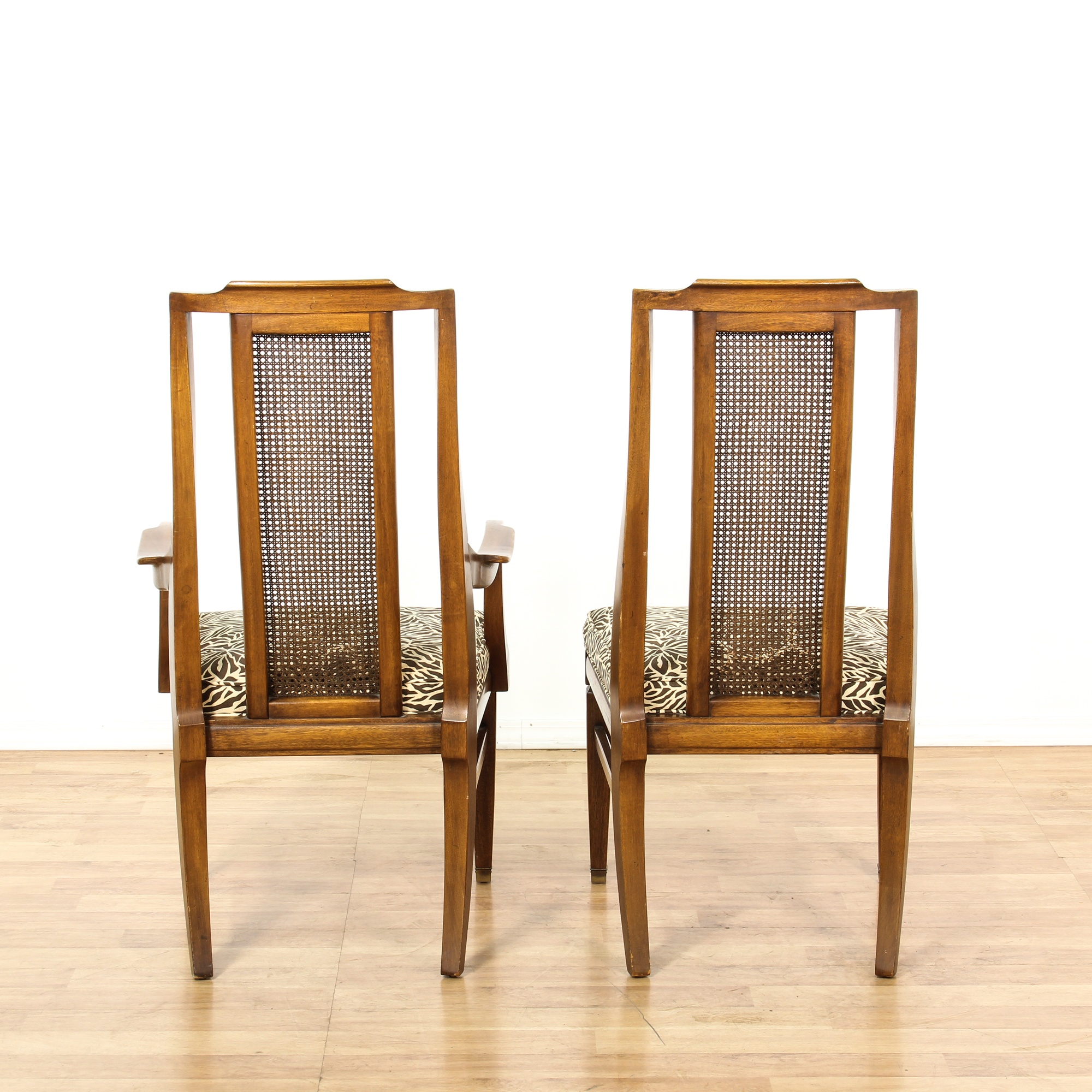 """Dining Room Chairs San Diego: Set Of 6 """"White"""" Cane Back Dining Chairs"""
