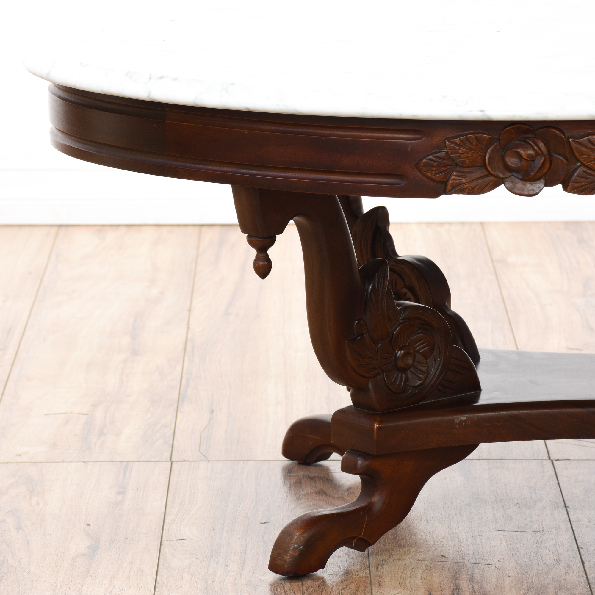 Victorian Coffee Table Furniture: Marble Top Victorian Coffee Table