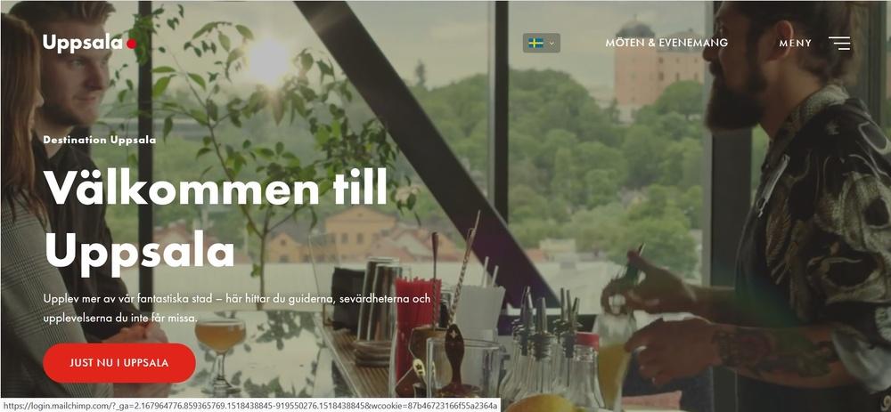 Destination Uppsalas nya webbplats som lanseras i juni 2019.