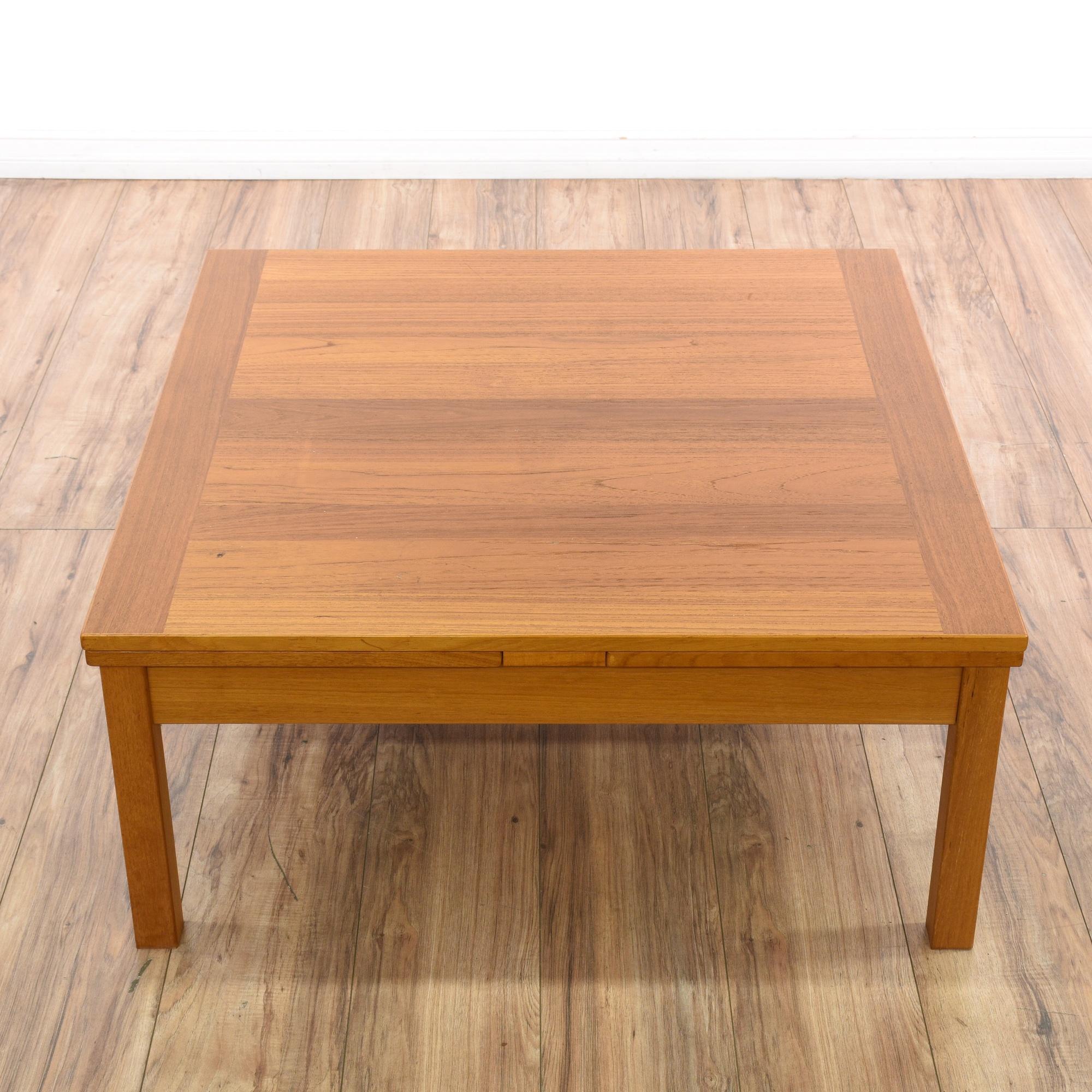 Danish Modern Teak Coffee Table W Leaves Loveseat