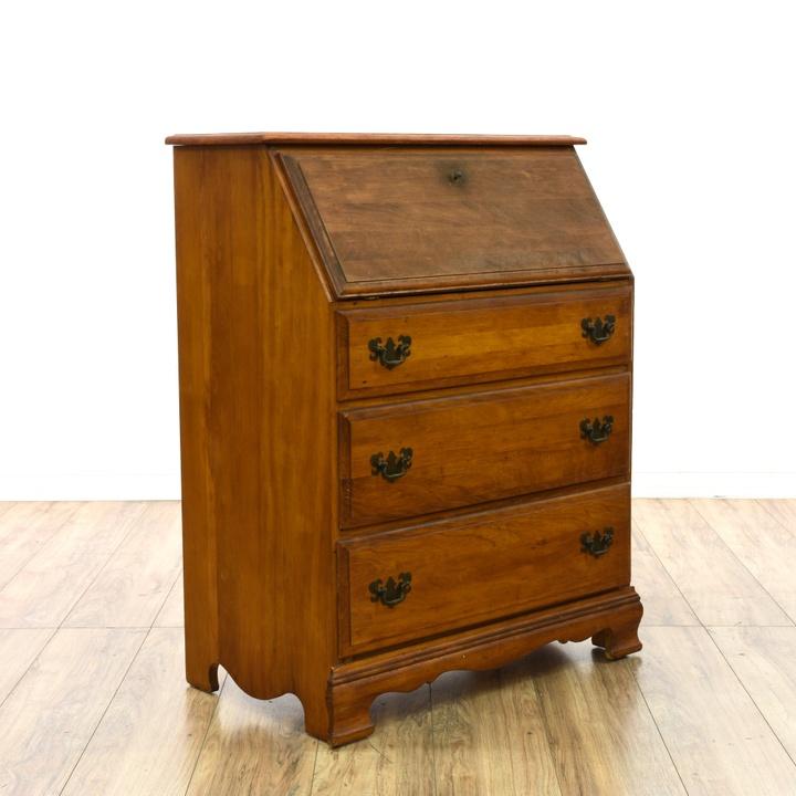 Secretary Desk W 3 Drawers Amp Storage Loveseat Vintage