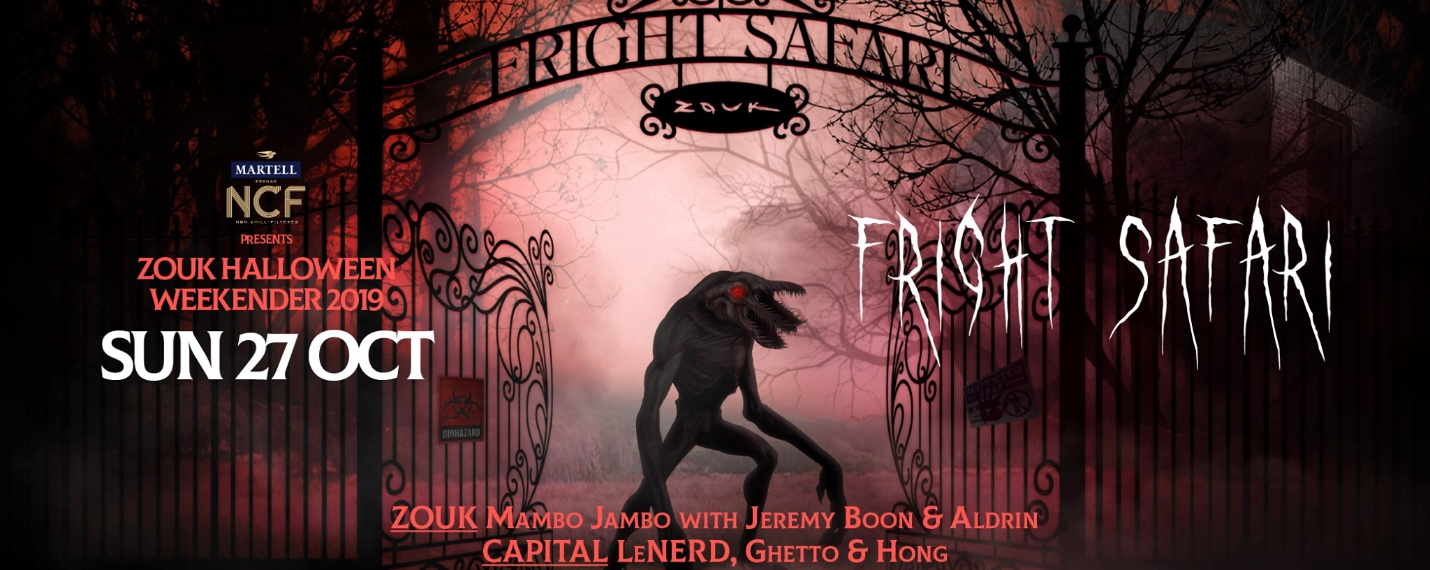 MARTELL NCF PRESENTS FRIGHT SAFARI FT. MAMBO JAMBO WITH JEREMY BOON & ALDRIN