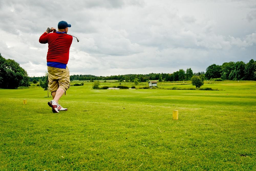 Golfspelare. Foto: Niklas Lundengård