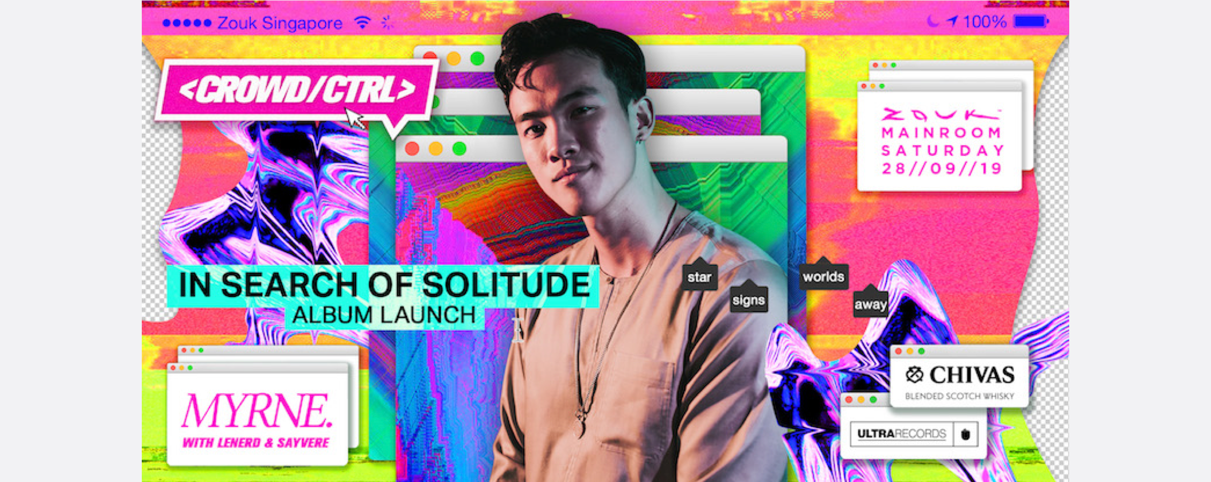 """Crowd CTRL x Ultra Records present """"In Search of Solitude"""" Album Launch Party ft. MYRNE"""