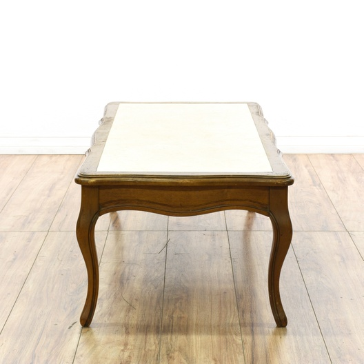 """Mersman"" Marble French Provincial Coffee Table"