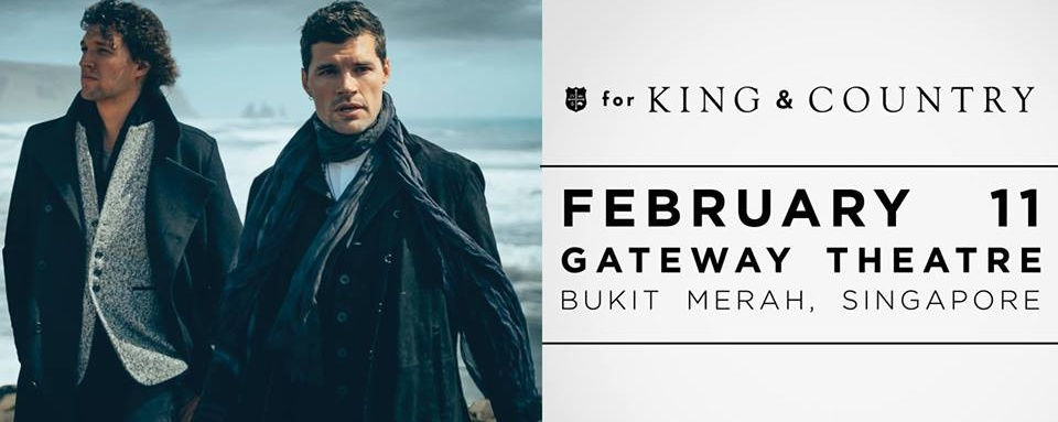 for KING & COUNTRY at Gateway Theatre