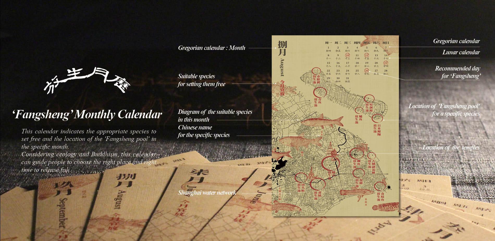 The Design of 'Fangsheng' Monthly Calendar
