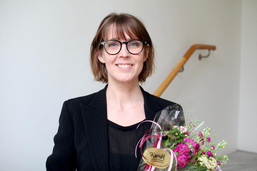 Josefine Engström, valdes till ny ordförande i Svenska Tecknare på årsmötet den 10 maj 2019
