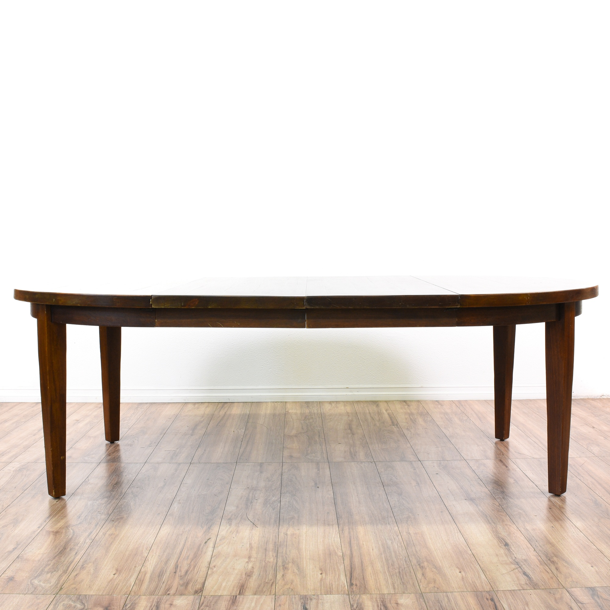 Dining Room Furniture San Diego: Round Solid Wood Dining Table W/ 2 Leaves