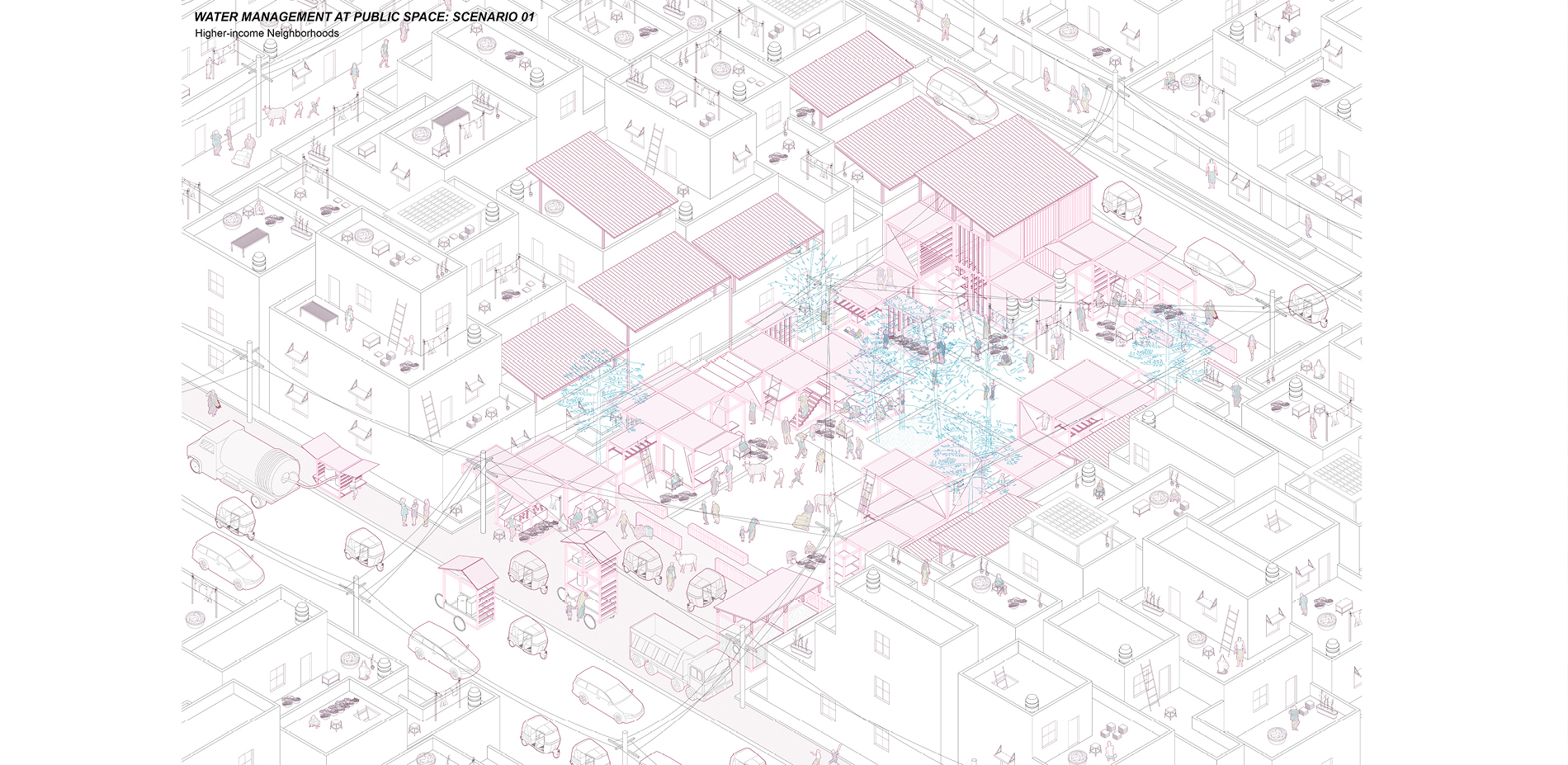 Water Management at Public Space: Higher-income Neighborhoods