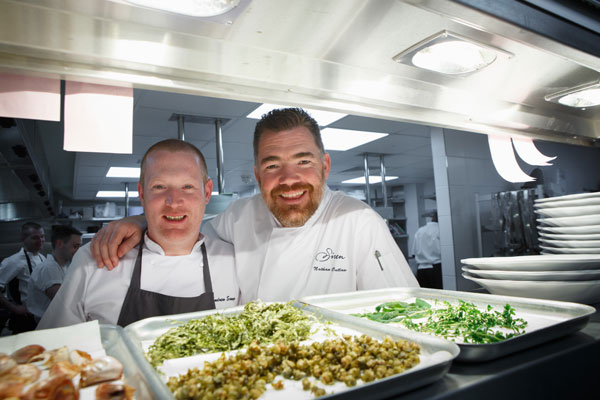 Head chef Andrew Saywer and Nathan Outlaw