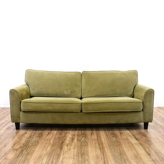 Upholstered Khaki Contemporary Loveseat Sofa