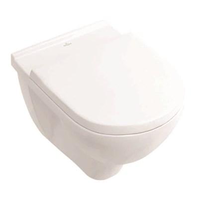 Toalettskål for veggmontering, 560x360 mm, inkl. sete med SC og QR