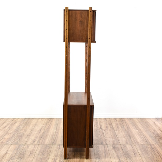 mid century modern wall unit bookshelf loveseat vintage. Black Bedroom Furniture Sets. Home Design Ideas