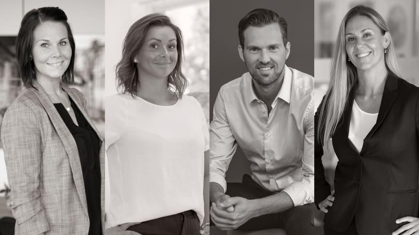 Lynn Treard, Katarina Bajric, Niklas Bergsten och Jannica Johansson.