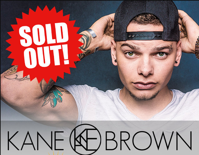 CVAH- Kane Brown, Friday June 1, 2018, gates 5:30pm
