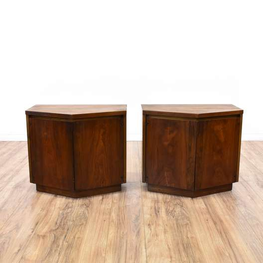 Pair of Cherry Mid Century Modern End Tables
