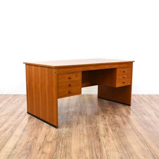 Large Danish Moden Teak Desk