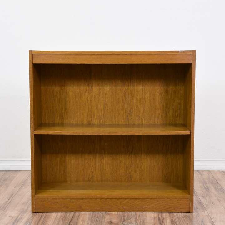 small solid wood bookcase w 3 shelves loveseat vintage. Black Bedroom Furniture Sets. Home Design Ideas