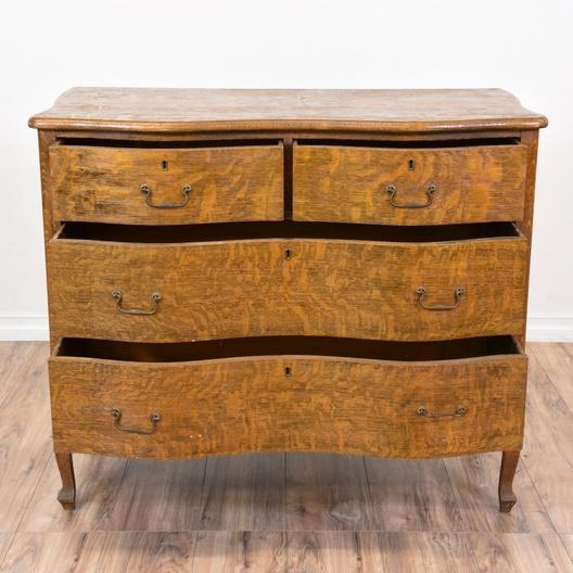 Antique Quarter Sawn Oak Dresser Loveseat Vintage