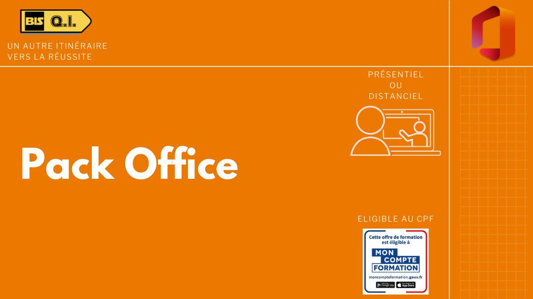 Représentation de la formation : Pack Microsoft Office