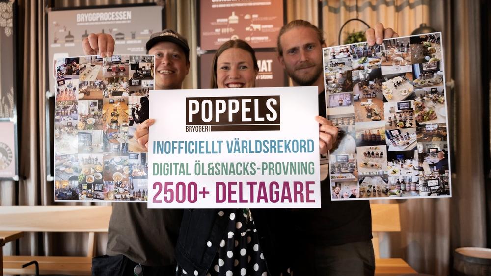 Poppels slog den 2:e juli ett inofficiellt världsrekord i antalet deltagare i en ölprovning. Över 2500 personer deltog i en öl&snacks-provning!