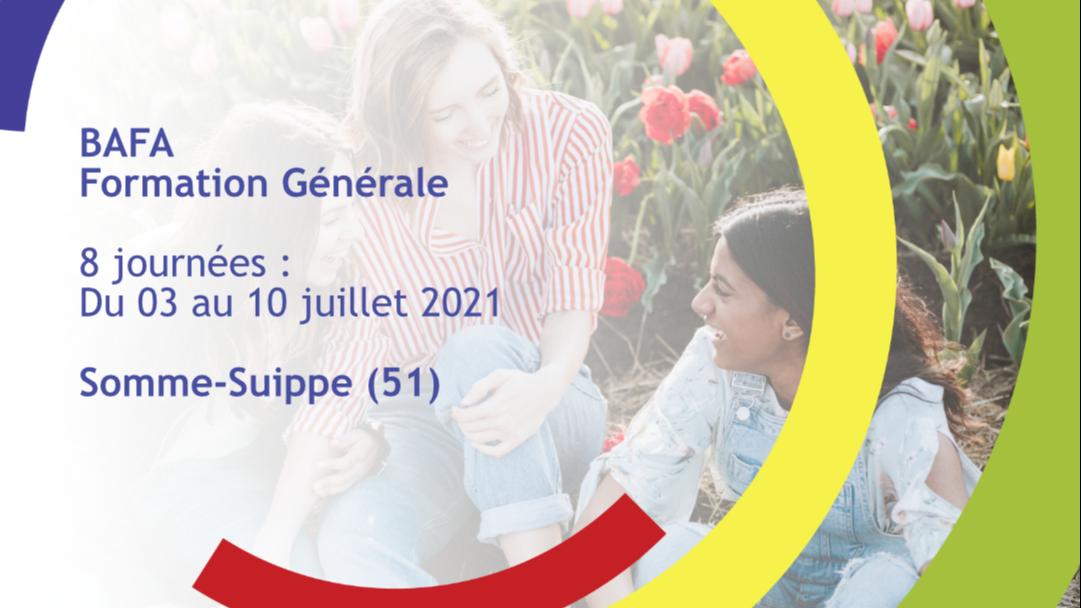 Représentation de la formation : Formation Générale BAFA Juillet 2021 - Somme-Suippe (51)