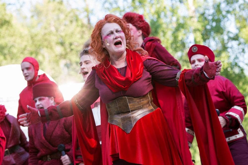 Bröderna Lejonhjärta - Sommarteater i Skellefteå 2019 i medleforsparken. Fotograf Patrick Degerman.