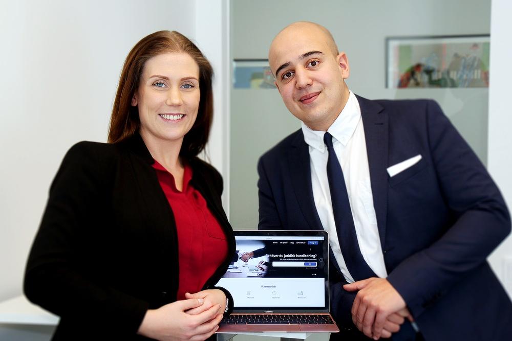 Entreprenörerna bakom Point of Law, från vänster: Nathalie Pedersen & Radwan Elkhalki